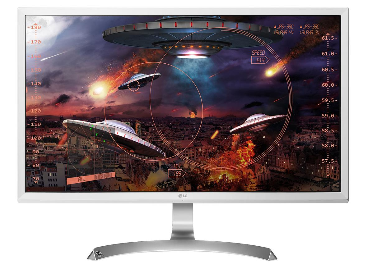 "LG 27UD59-W LED display 68.6 cm (27"") 3840 x 2160 pixels 4K Ultra HD Silver, White"